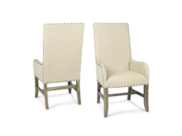 Christine Arm Chair - Natural Linen + Driftwood