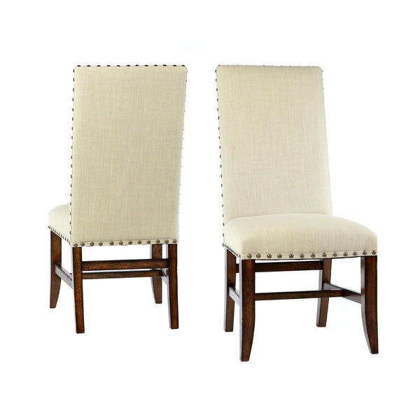 Christine Side Chair - Natural Linen + Chestnut