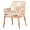 Blossom Arm Chair - Peach + Tan Rope