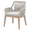 Blossom Arm Chair - Taupe + White Rope