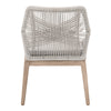 Blossom Dining Chair - Taupe & White Rope