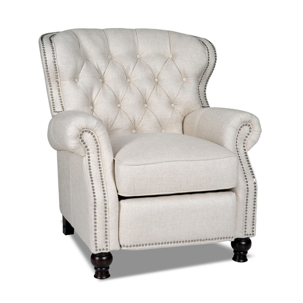 Oxford Pushback Recliner - Light Linen