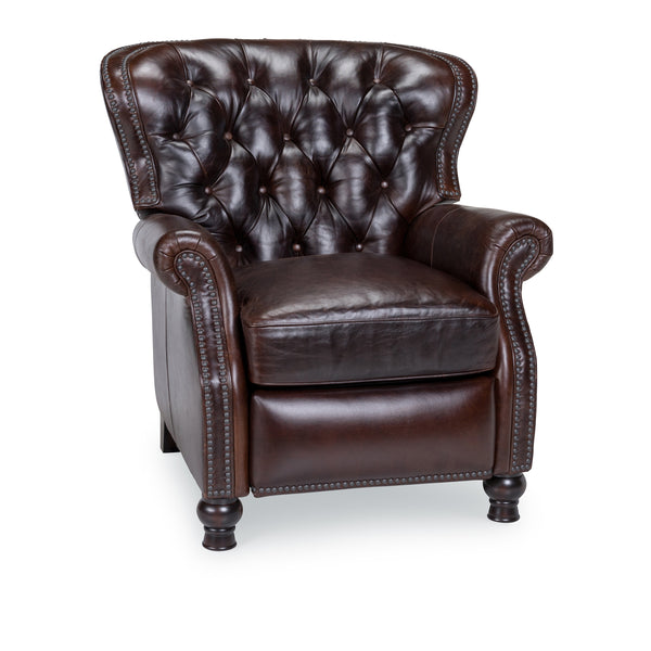 Oxford Top Grain Leather Pushback Recliner - Cocoa