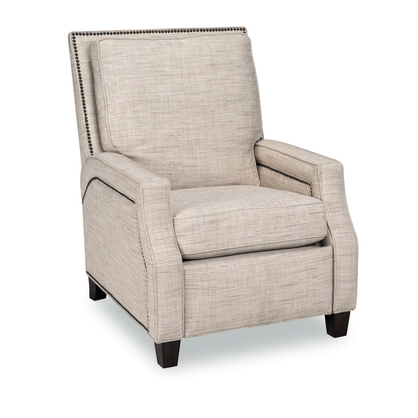 Paige Pushback Down Recliner - Sand Tweed
