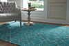 Over Tufted Area Rug - Turquoise