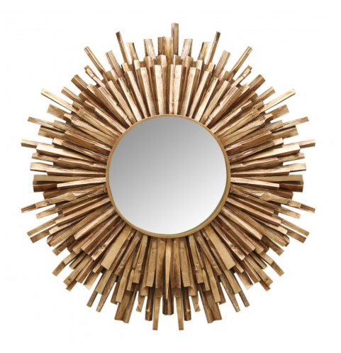 "Taroo 36"" Reclaimed Wood Mirror"