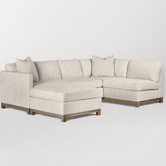 Clifton Sectional - Left Arm Facing - Crypton Tweed + Driftwood