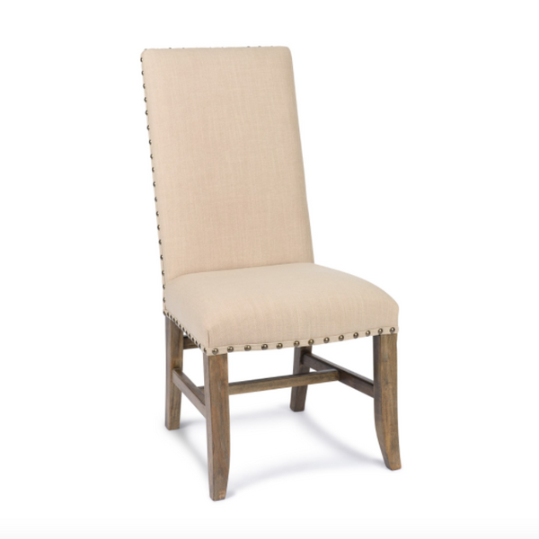 Christine Side Chair - Natural Linen + Driftwood