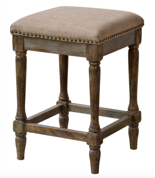 Walker Counter Stool - Hopsack Linen + Driftwood