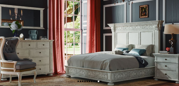 Charleston Mahogany King Bed - Smokey Gray