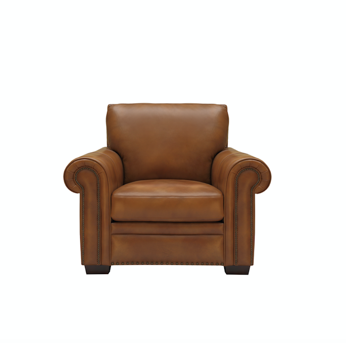 Henley 44  Top Grain Leather Chair - Textured Honey  sc 1 st  Vintage Home Charlotte & Henley 44