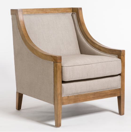 Madison Occasional Chair - Taupe + Beachwood