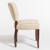 Astor Dining Chair - Canvas + Walnut