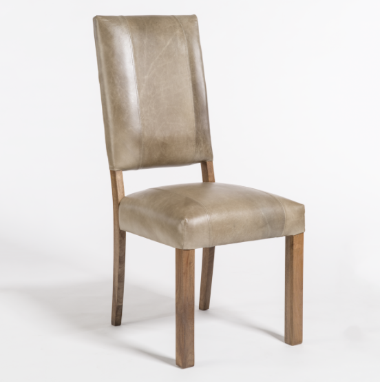 Bryce Dining Chair - Gray Leather + Ash