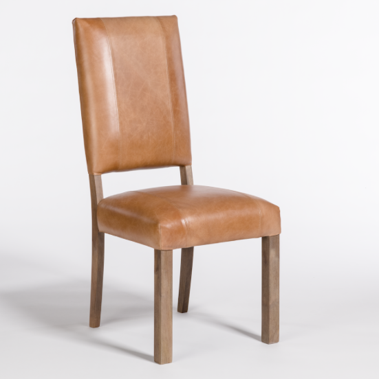 Bryce Dining Chair - Bourbon Leather + Ash