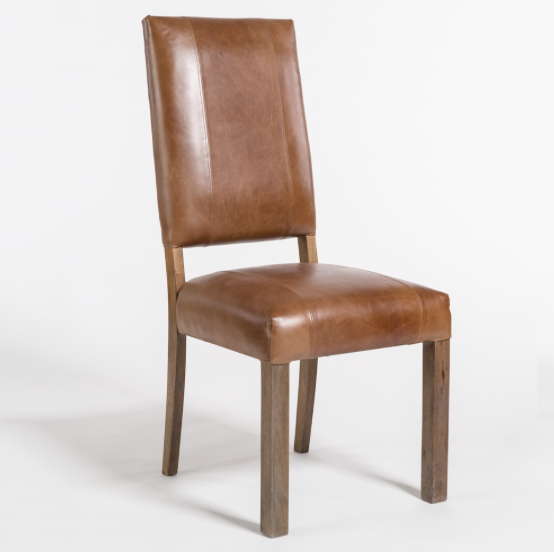 Bryce Dining Chair - Tobacco Leather + Ash