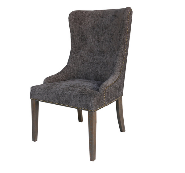 Bromley End Chair - Charcoal & Antique Gray