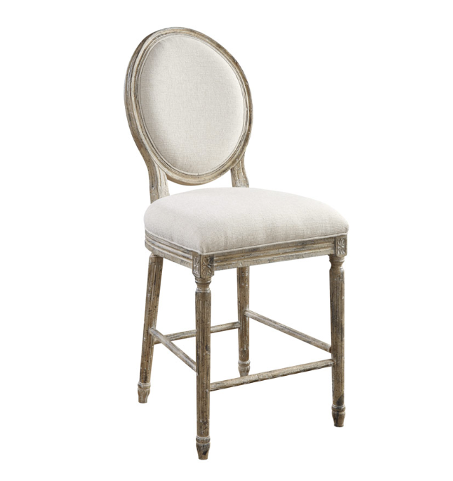 Outstanding Greenville Counter Stool White Linen Sandstone Gmtry Best Dining Table And Chair Ideas Images Gmtryco