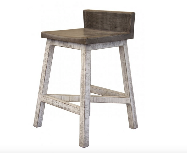 Santa Anita Counter Stool - Gray Wash + Stone