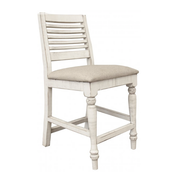 Santa Anita Turned Leg Counter Stool - Linen + Stone
