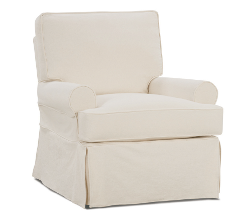 Sophia Slipcover Down Swivel Glider - Natural