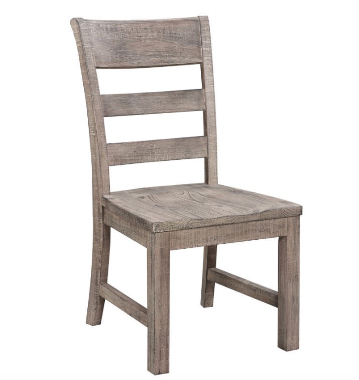 Hickory Slat Side Chair - Sawcut Distressed Brown