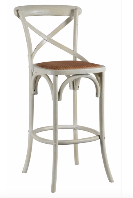 Barnett X-Back Barstool - Cottage White
