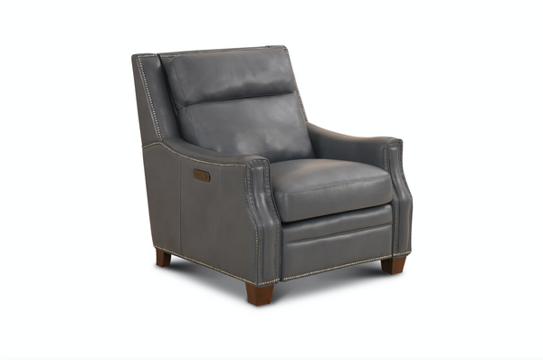 Mandel Top Grain Leather Power Recliner - Canape