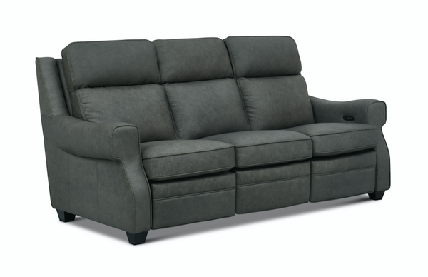 Bronson Top Grain Leather Power Reclining Sofa - Chelsea Pewter