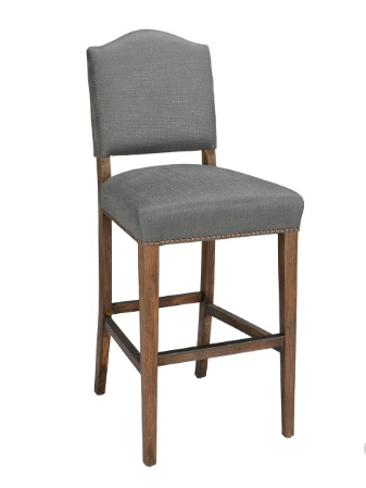 Markham Linen + Oak Bar Stool