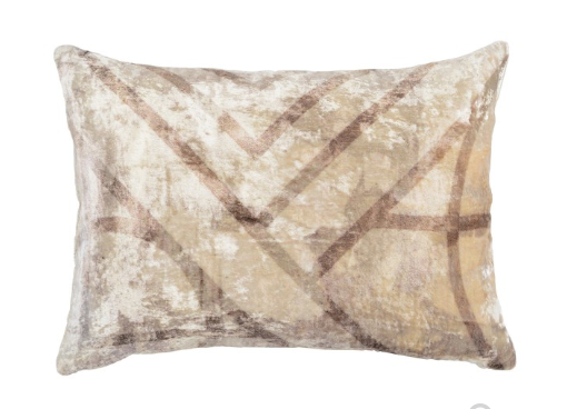 Daka 14x20 Velvet Pillow - Natural