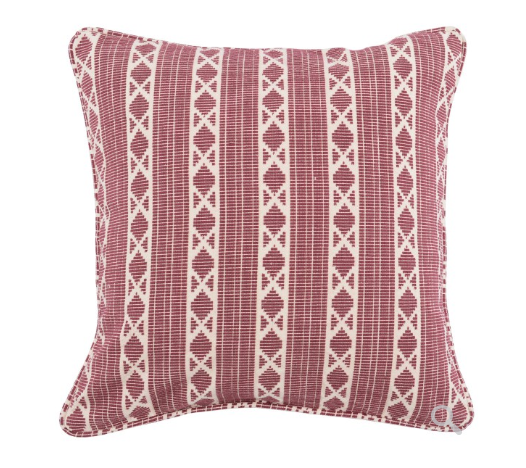 Dakota 22x22 Textured Weave Pillow - Berry