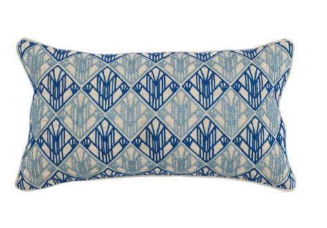 Rocha 14x26 Art Deco Pillow - Royal + Marlin Blue