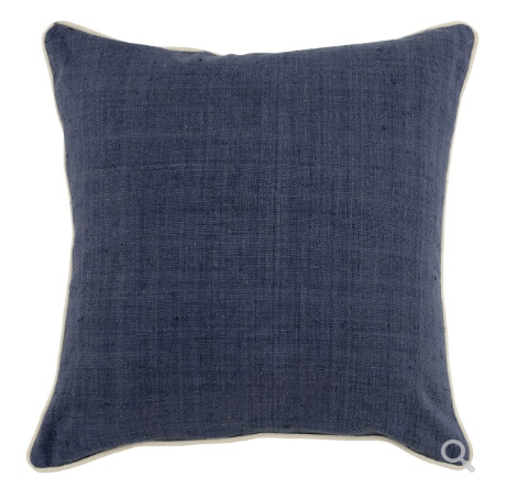 Soren 22x22 Silk Front Pillow - Blue Jay