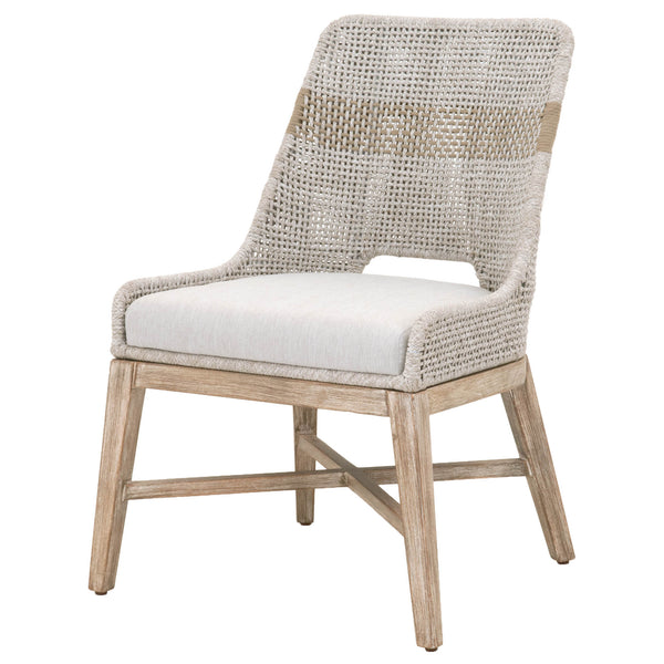 Waller Dining Chair - Taupe + White Rope