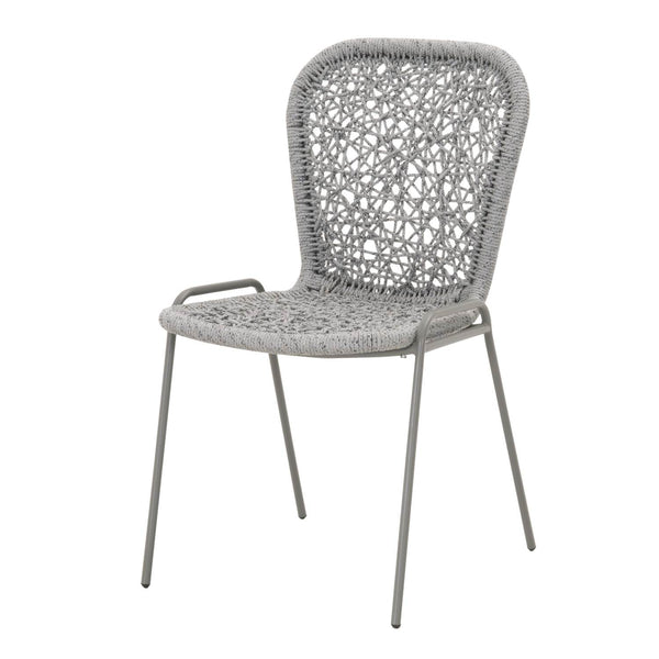 Donner Dining Chair - Storm Gray + Platinum Rope
