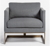 Baxter Occasional Chair - Shadow + Brass