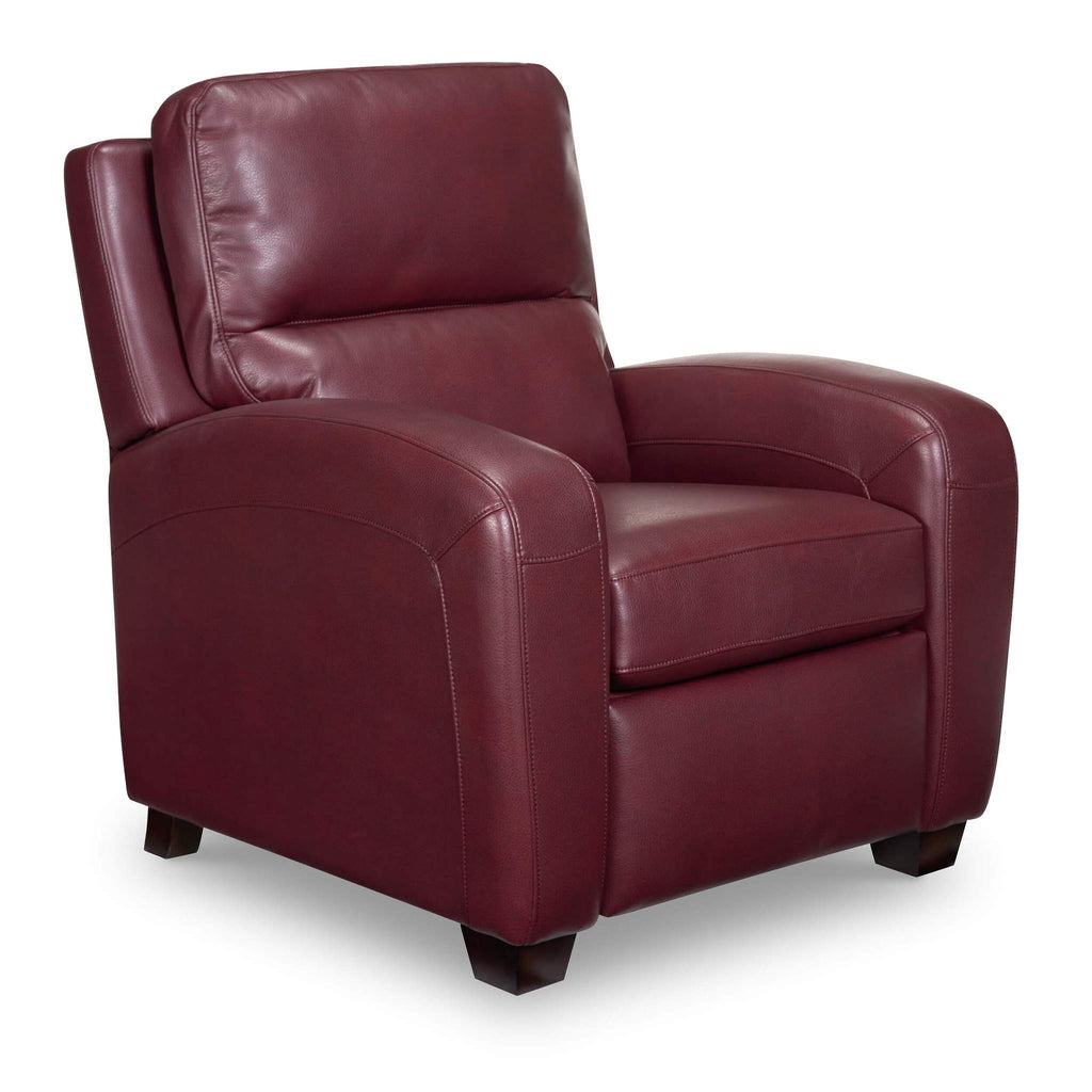 Bruce Leather Recliner - Red