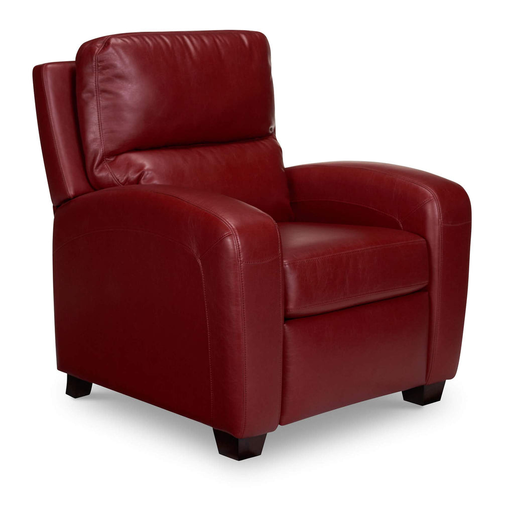 Bruce Leather Recliner - Cherry