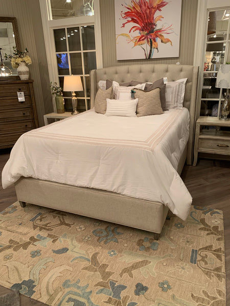 Kristen Adjustable Tufted Queen Bed - Macchiato