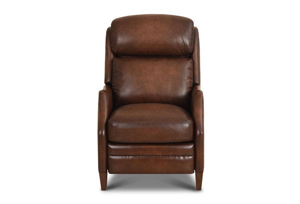 Brisbane Top Grain Leather Power Motion Recliner - Santiago Brown