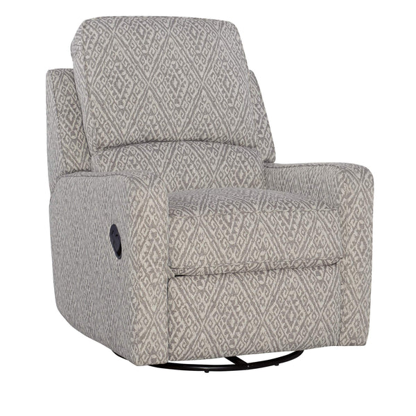 Percy Linen Swivel Glider Recliner - Grey