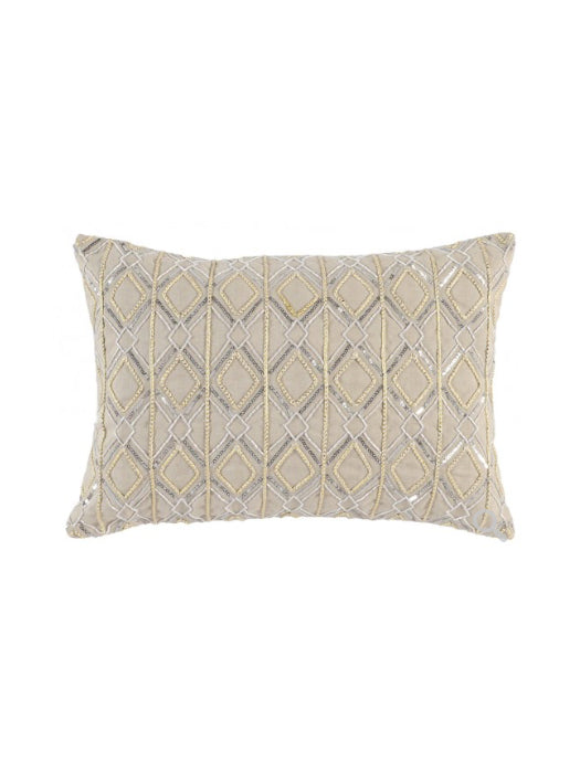 Aledo 14x20 Pillow - Wool/Metallic