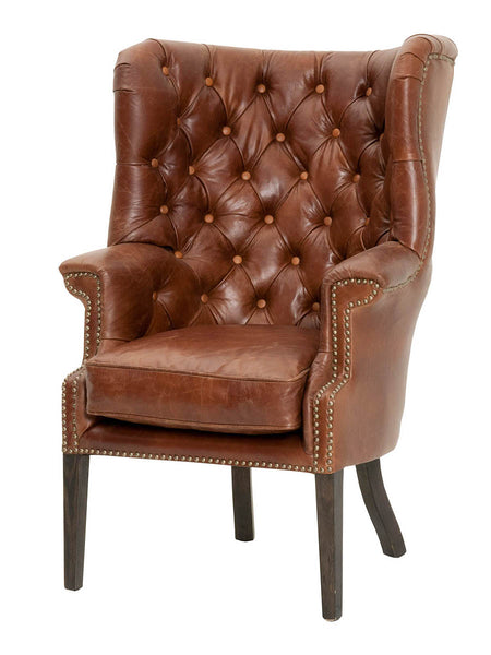 Hayes Club Chair - Antique Chestnut Leather