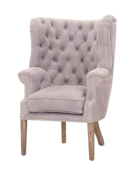 Hayes Club Chair - Pearl Gray Leather