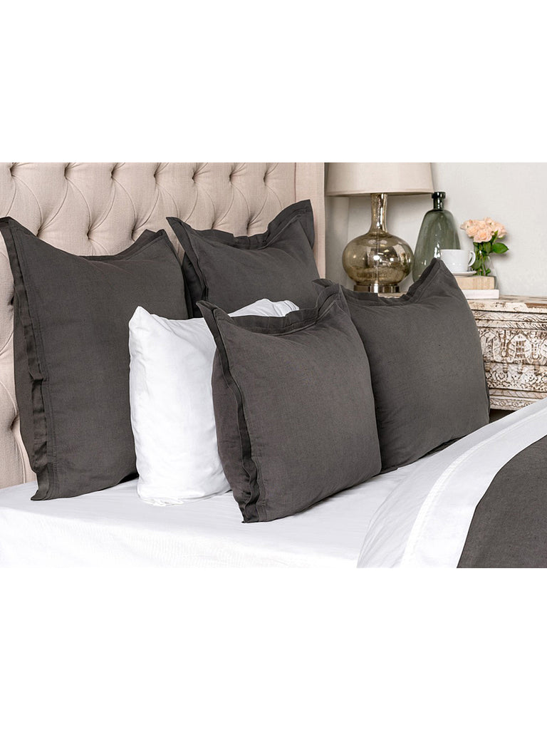 Harlow Duvet Collection - Charcoal - King
