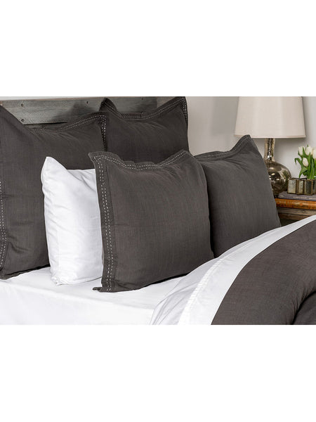 Harper Duvet Collection - Charcoal - Queen
