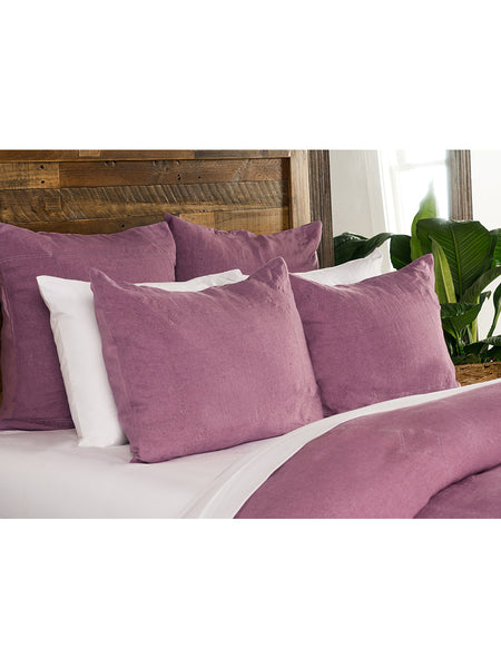 Heirloom Linen Duvet Collection - Orchid - Queen