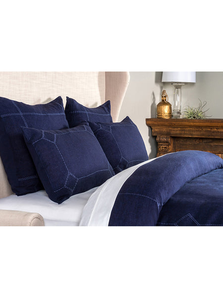 Heirloom Linen Duvet Collection - Indigo - Queen