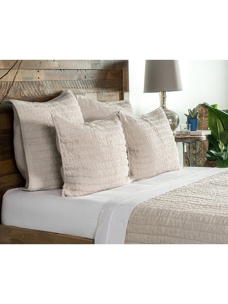 Heirloom Linen Quilt Collection - Natural - Queen